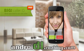 تمام صفحه با big full screen caller id